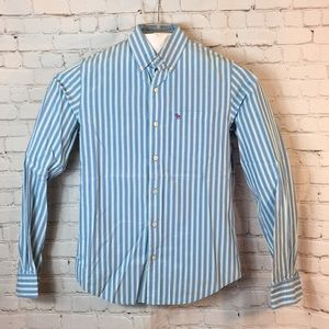 Abercrombie & Fitch blu striped button down shirt